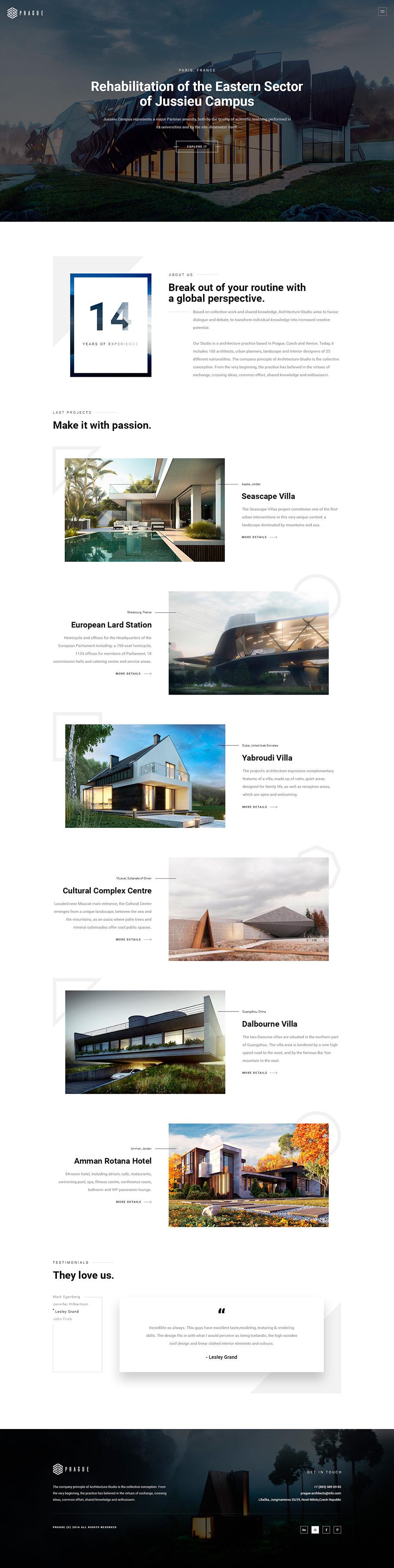Prague Architecture WordPress - Mobile Report on